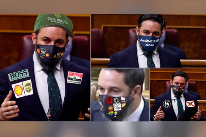 Abascal's mask looks like a Formula 1. It doesn't fit any more publi