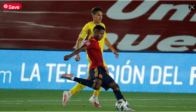 Ansu Fati becomes the youngest player in history to score a goal with the Spanish team 17 years and 311 days