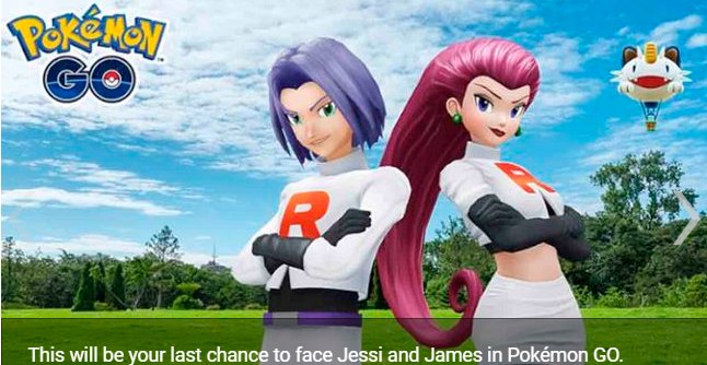 Pokémon GO Jessie and James say goodbye to the game this September 30