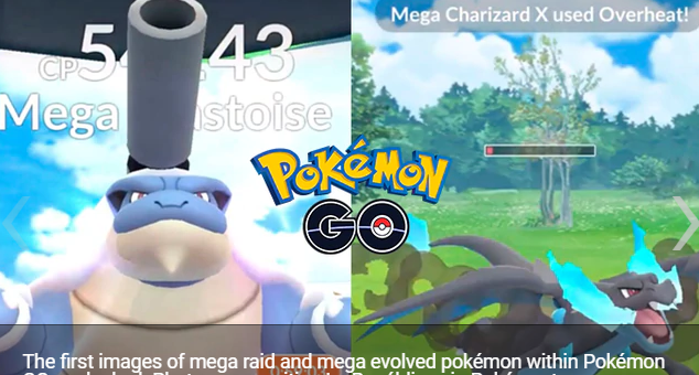 Pokémon GO filter how megaevolutions and mega incursions would look in the video game