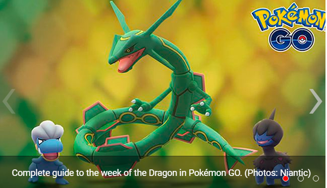 Pokémon GO know the list of Pokémon that appear and hatch in the week of the Dragon
