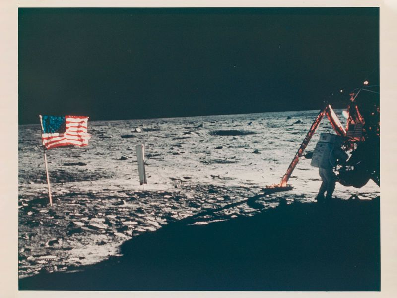 Neil Armstrong Moon photo for auction